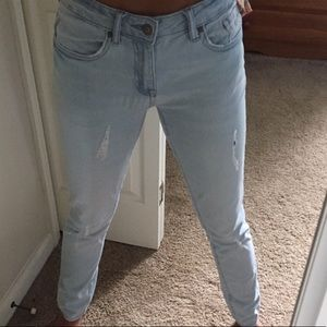 Forever 21 Lightly Distressed Skinny Jeans